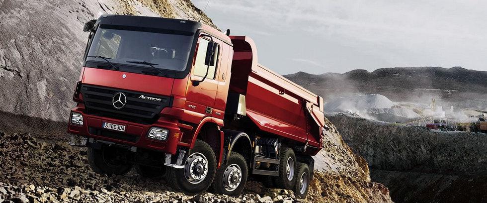 грузовик на горе